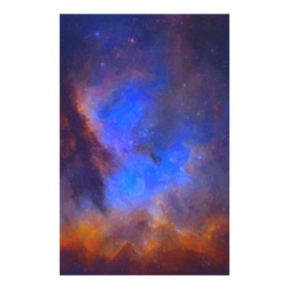 Abstract Galactic Nebula with cosmic cloud 2 Stationery