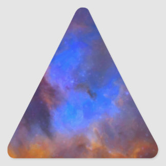 Abstract Galactic Nebula with cosmic cloud 2 Triangle Sticker