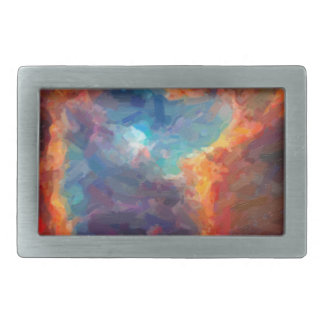 Abstract Galactic Nebula with cosmic cloud 4 Belt Buckles