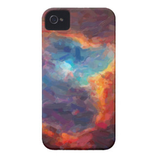 Abstract Galactic Nebula with cosmic cloud 4 iPhone 4 Case-Mate Cases