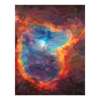 Abstract Galactic Nebula with cosmic cloud 4 Letterhead