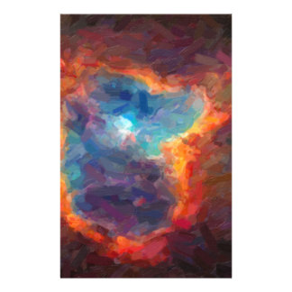Abstract Galactic Nebula with cosmic cloud 4 Stationery