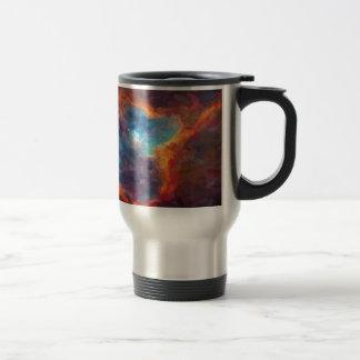 Abstract Galactic Nebula with cosmic cloud 4 Travel Mug