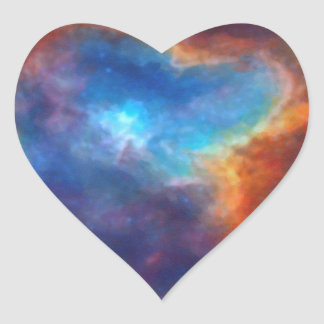 Abstract Galactic Nebula with cosmic cloud 4a Heart Sticker