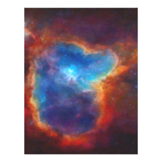 Abstract Galactic Nebula with cosmic cloud 4a Letterhead