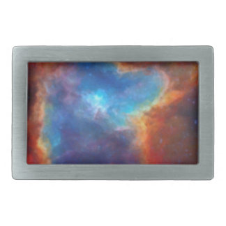 Abstract Galactic Nebula with cosmic cloud 4a Rectangular Belt Buckles