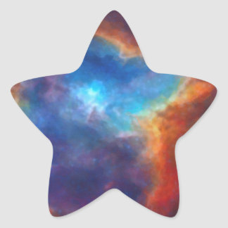 Abstract Galactic Nebula with cosmic cloud 4a Star Sticker