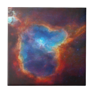 Abstract Galactic Nebula with cosmic cloud 4a Tile
