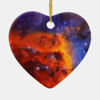 Abstract Galactic Nebula with cosmic cloud 5 Ceramic Ornament