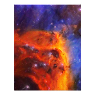 Abstract Galactic Nebula with cosmic cloud 5 Letterhead