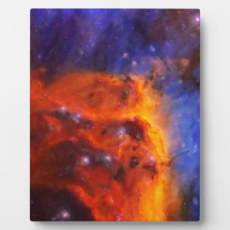 Abstract Galactic Nebula with cosmic cloud 5 Plaque