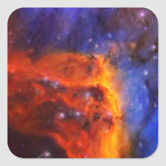 Abstract Galactic Nebula with cosmic cloud 5 Square Sticker
