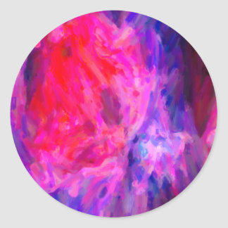 Abstract Galactic Nebula with cosmic cloud 6   24x Classic Round Sticker
