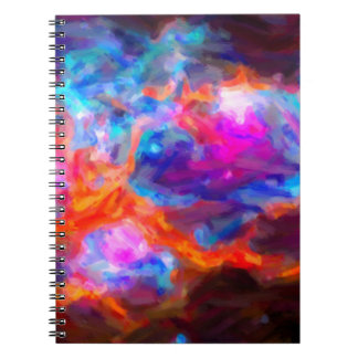 Abstract Galactic Nebula with cosmic cloud 7   24x Notebook