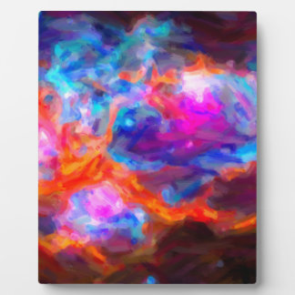 Abstract Galactic Nebula with cosmic cloud 7   24x Plaque