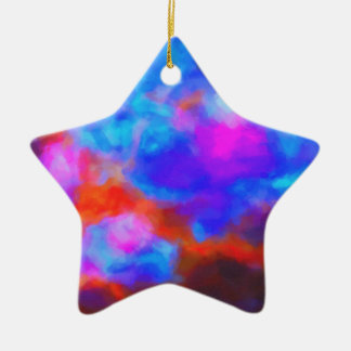 Abstract Galactic Nebula with cosmic cloud 7a   24 Ceramic Ornament