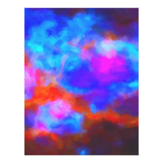 Abstract Galactic Nebula with cosmic cloud 7a   24 Letterhead