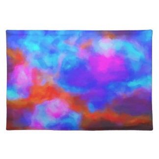 Abstract Galactic Nebula with cosmic cloud 7a   24 Placemat