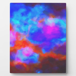 Abstract Galactic Nebula with cosmic cloud 7a   24 Plaque
