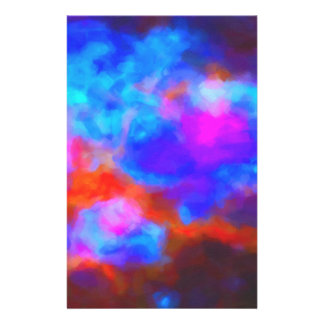 Abstract Galactic Nebula with cosmic cloud 7a   24 Stationery