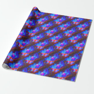 Abstract Galactic Nebula with cosmic cloud 7a   24 Wrapping Paper