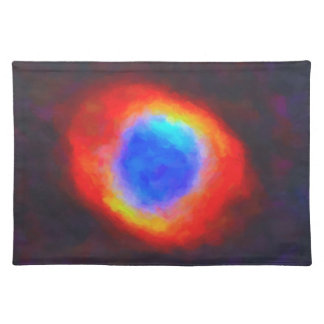 Abstract Galactic Nebula with cosmic cloud 9 Placemat