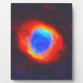 Abstract Galactic Nebula with cosmic cloud 9 Plaque