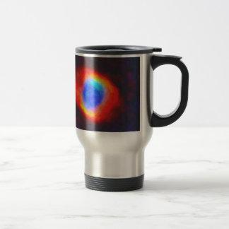 Abstract Galactic Nebula with cosmic cloud 9 Travel Mug