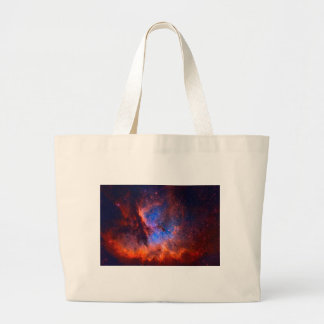 Abstract Galactic Nebula with cosmic cloud Large Tote Bag