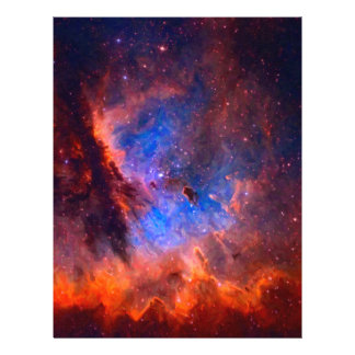 Abstract Galactic Nebula with cosmic cloud Letterhead