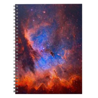 Abstract Galactic Nebula with cosmic cloud Notebook