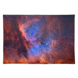 Abstract Galactic Nebula with cosmic cloud Placemat