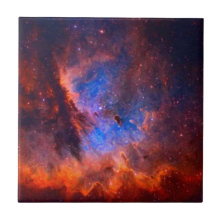 Abstract Galactic Nebula with cosmic cloud - sml.j Tile