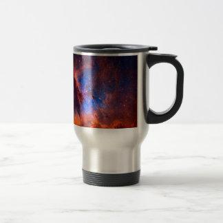 Abstract Galactic Nebula with cosmic cloud Travel Mug