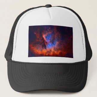 Abstract Galactic Nebula with cosmic cloud Trucker Hat
