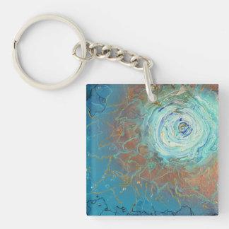 Abstract galaxy keychain