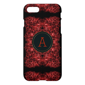Abstract galaxy red texture.monogram. iPhone 8/7 case