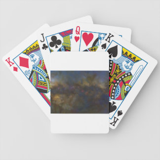 Abstract Galaxy with cosmic cloud Bicycle Playing Cards