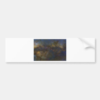 Abstract Galaxy with cosmic cloud Bumper Sticker
