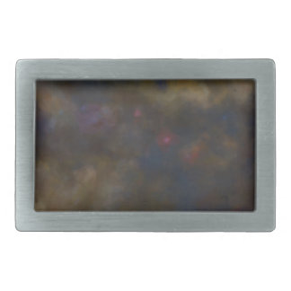 Abstract Galaxy with cosmic cloud sml Rectangular Belt Buckles