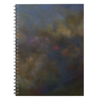 Abstract Galaxy with cosmic cloud Spiral Notebook
