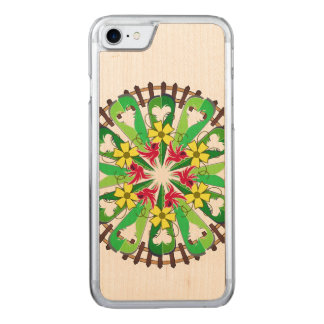 Abstract Garden Illustration Carved iPhone 8/7 Case