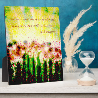 Abstract Garden Landscape Art Plaque