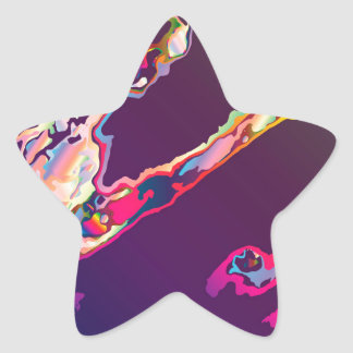 Abstract Gasoline On Water Star Sticker