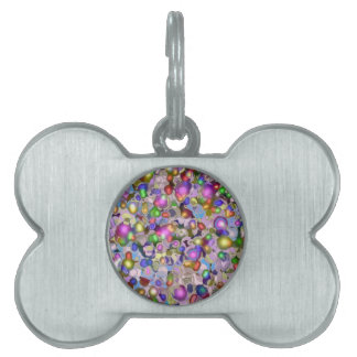 Abstract gems. pet ID tag
