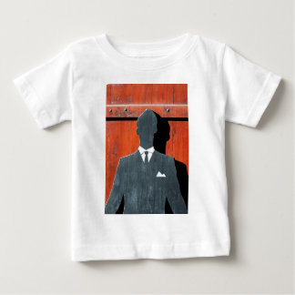 Abstract Gentleman Suit Silhouette Baby T-Shirt