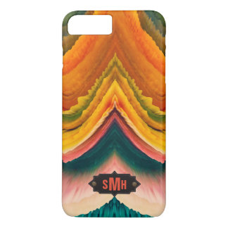 Abstract Geode Agate Monogram | Personalized iPhone 7 Plus Case