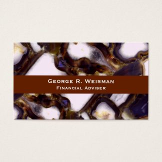 Abstract Geodes Business Card