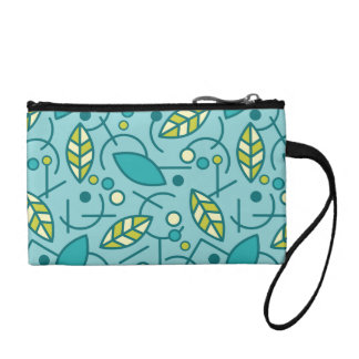 Abstract Geometric Aqua Seamless Pattern Coin Purse