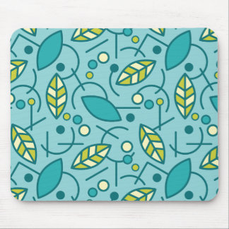 Abstract Geometric Aqua Seamless Pattern Mouse Pad